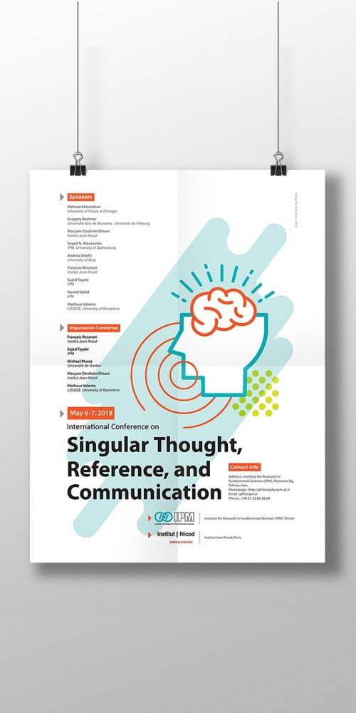Poster Design forInternational Conference on Singular Thought, Reference, and Communication